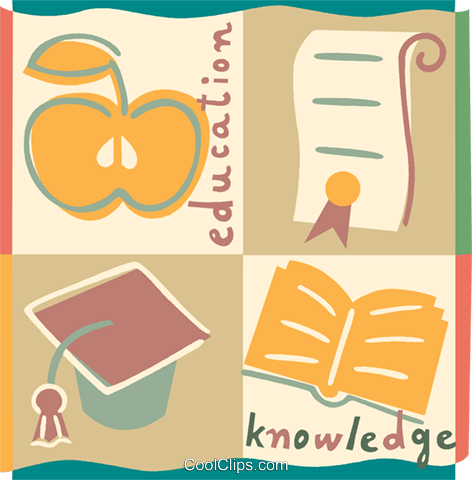 Educational Concepts Royalty Free Vector Clip Art illustration vc093263