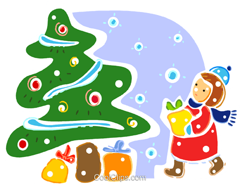 Christmas Trees Royalty Free Vector Clip Art illustration vc093310