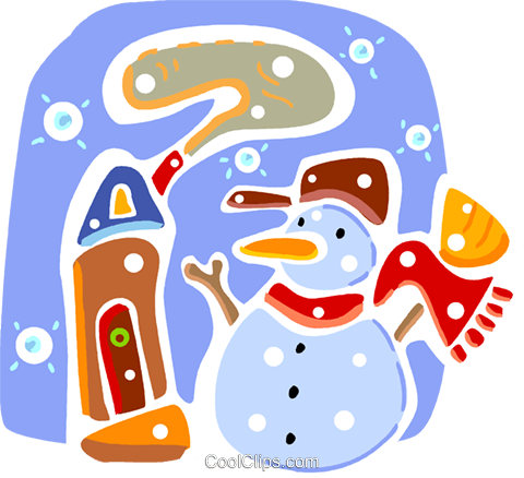 Snowmen Snowman Royalty Free Vector Clip Art illustration vc093312