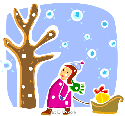 Christmas Scenes Royalty Free Vector Clip Art illustration vc093314