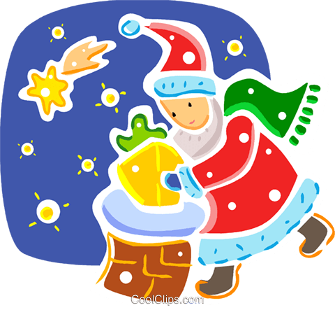 Santa Royalty Free Vector Clip Art illustration vc093317