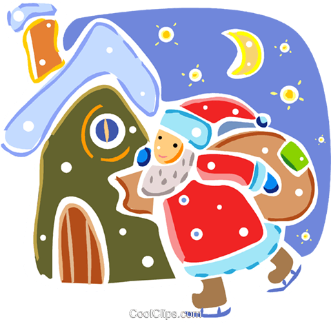 Santa Royalty Free Vector Clip Art illustration vc093318