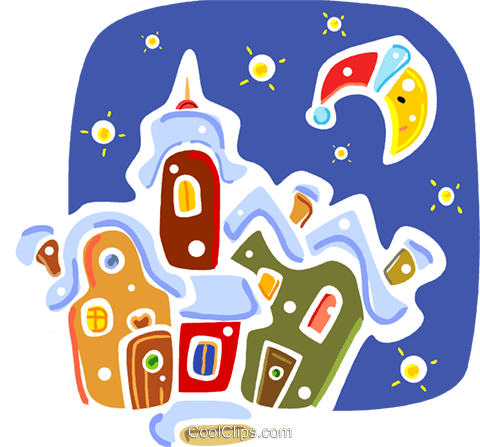 Christmas Scenes Royalty Free Vector Clip Art illustration vc093324