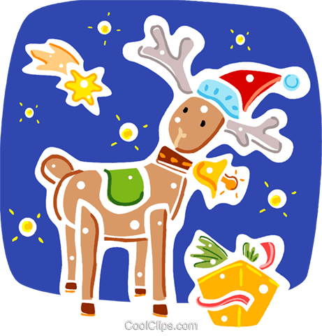 Reindeer Royalty Free Vector Clip Art illustration vc093326