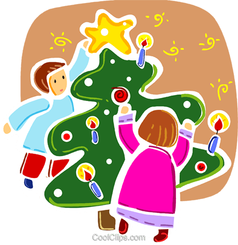 Christmas Trees Royalty Free Vector Clip Art illustration vc093328