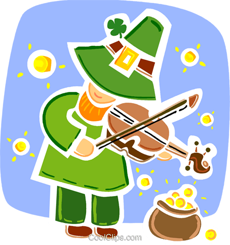 Leprechauns Royalty Free Vector Clip Art illustration vc093330