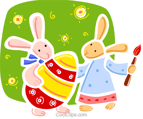 Easter Bunny Royalty Free Vector Clip Art illustration vc093332
