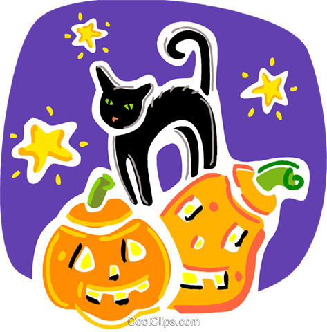 Black Cats Royalty Free Vector Clip Art illustration vc093336