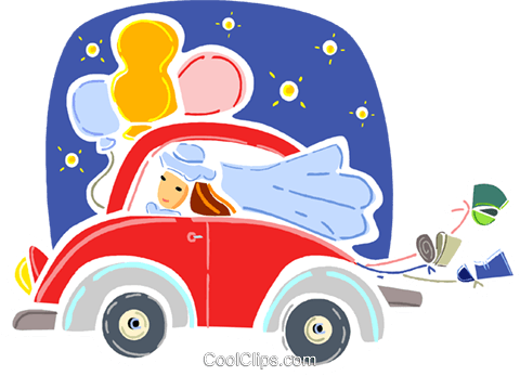 Just Married Royalty Free Vector Clip Art illustration vc093341