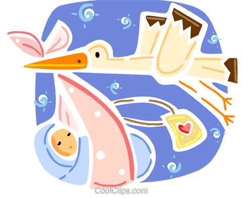 Storks Royalty Free Vector Clip Art illustration vc093344
