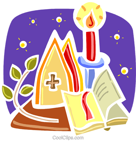 Bibles Royalty Free Vector Clip Art illustration vc093346