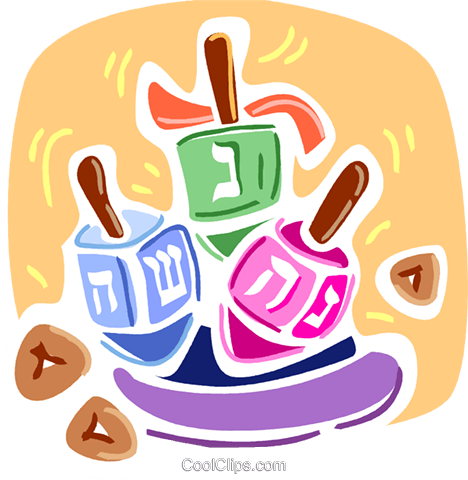 Dreidels Royalty Free Vector Clip Art illustration vc093347