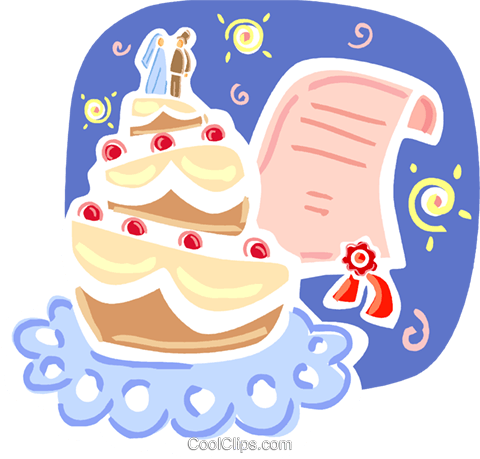 Cakes Royalty Free Vector Clip Art illustration vc093357
