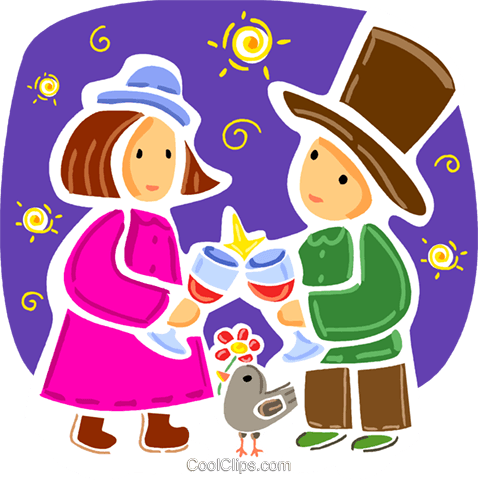 Couples and Romance Royalty Free Vector Clip Art illustration vc093359