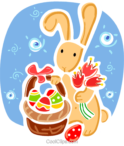 Easter Bunny Royalty Free Vector Clip Art illustration vc093362