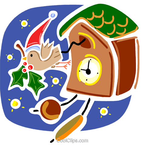 Cookoo Clocks Royalty Free Vector Clip Art illustration vc093363