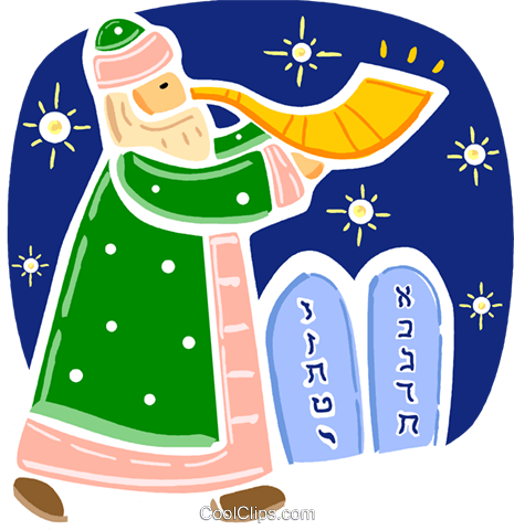 Moses Royalty Free Vector Clip Art illustration vc093370