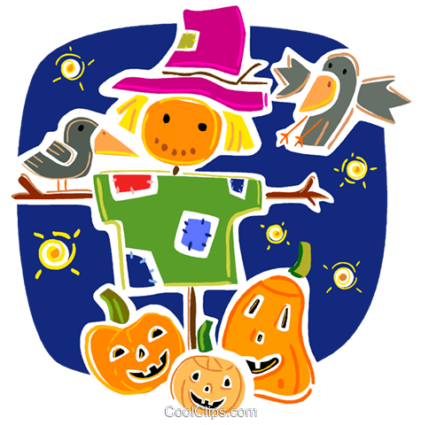 Pumpkins Royalty Free Vector Clip Art illustration vc093374