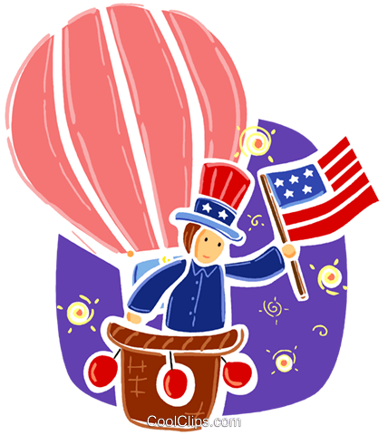 Hot Air Balloons Royalty Free Vector Clip Art illustration vc093377