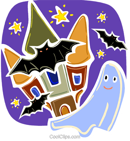 Ghosts Royalty Free Vector Clip Art illustration vc093380