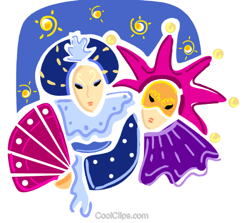 Mardi Gras Royalty Free Vector Clip Art illustration vc093402