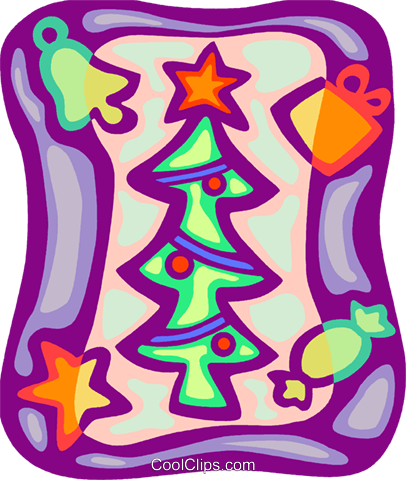 Christmas tree Royalty Free Vector Clip Art illustration vc093406