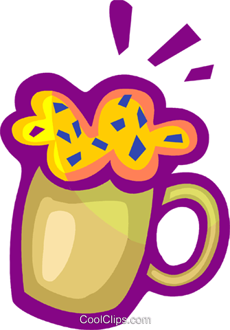 Mug of cold beer Royalty Free Vector Clip Art illustration vc093413