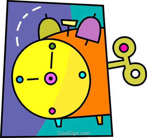 Alarm clock Royalty Free Vector Clip Art illustration vc093461