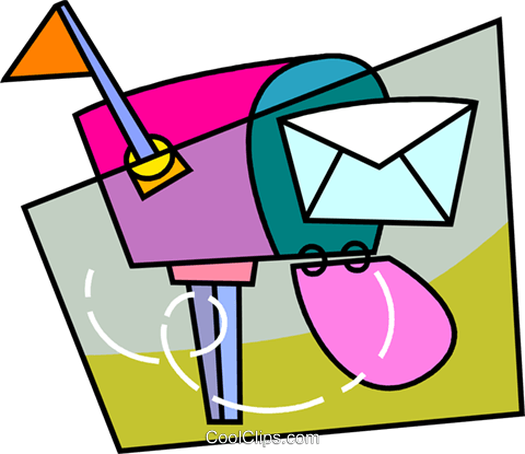 Mailbox with letter Royalty Free Vector Clip Art illustration vc093464
