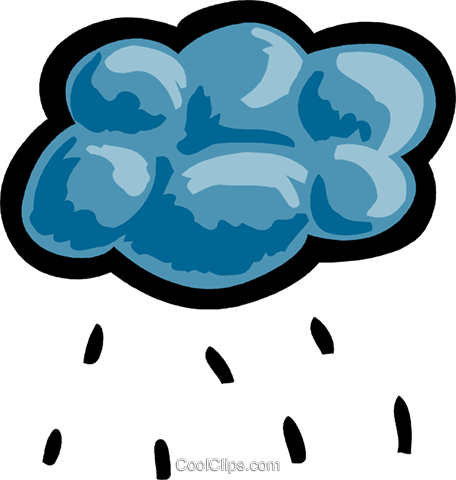 Rain clouds with rain Royalty Free Vector Clip Art illustration vc093552