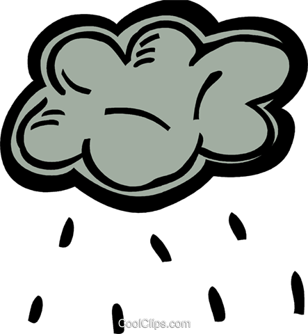 Rain clouds with rain Royalty Free Vector Clip Art illustration vc093553