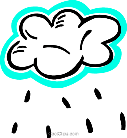 Rain clouds with rain Royalty Free Vector Clip Art illustration vc093554