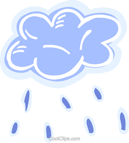 Rain clouds with rain Royalty Free Vector Clip Art illustration vc093555