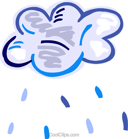 Rain clouds with rain Royalty Free Vector Clip Art illustration vc093556