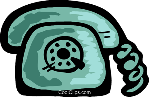 Home telephone Royalty Free Vector Clip Art illustration vc093567