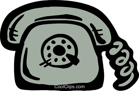 Home telephone Royalty Free Vector Clip Art illustration vc093568