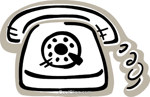 Home telephone Royalty Free Vector Clip Art illustration vc093569