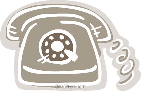 Home telephone Royalty Free Vector Clip Art illustration vc093570
