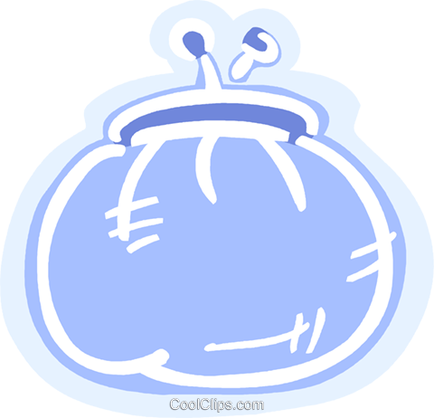 Change purse Royalty Free Vector Clip Art illustration vc093575