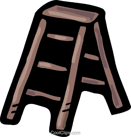 Step Ladder Royalty Free Vector Clip Art illustration vc093577