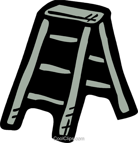 Step Ladder Royalty Free Vector Clip Art illustration vc093578