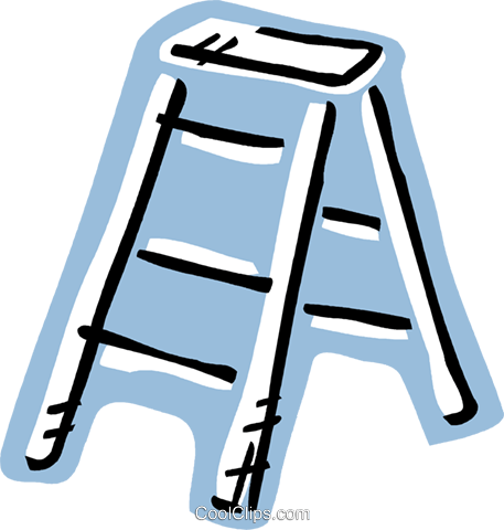 Step Ladder Royalty Free Vector Clip Art illustration vc093579
