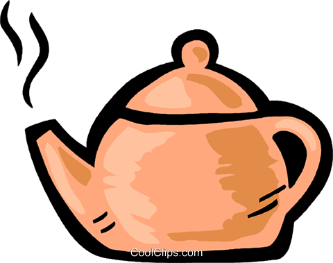 Boiling teapot Royalty Free Vector Clip Art illustration vc093582