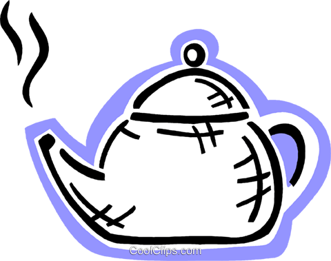 Boiling teapot Royalty Free Vector Clip Art illustration vc093584