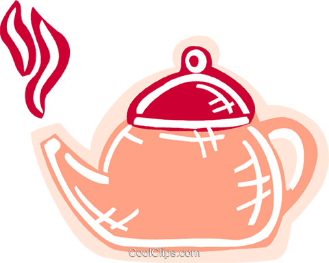 Boiling teapot Royalty Free Vector Clip Art illustration vc093585