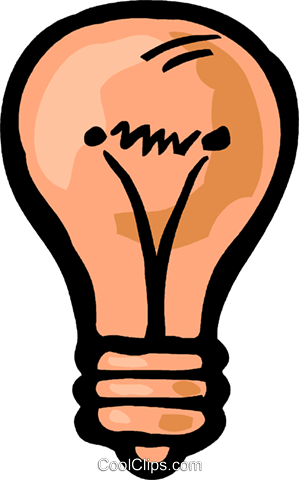 Light bulb Royalty Free Vector Clip Art illustration vc093592