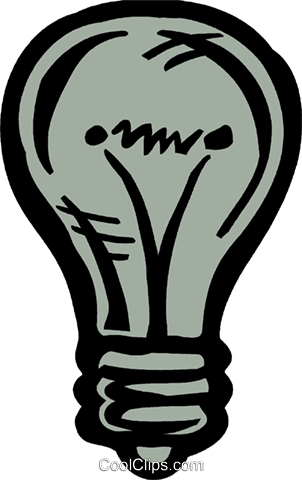 Light bulb Royalty Free Vector Clip Art illustration vc093593
