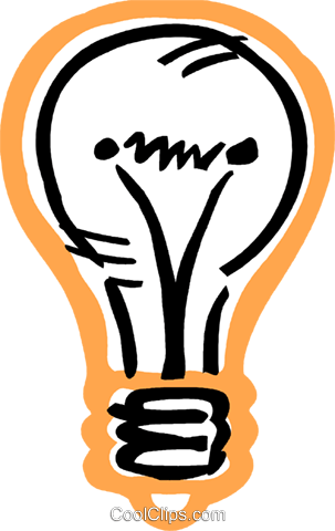 Light bulb Royalty Free Vector Clip Art illustration vc093594