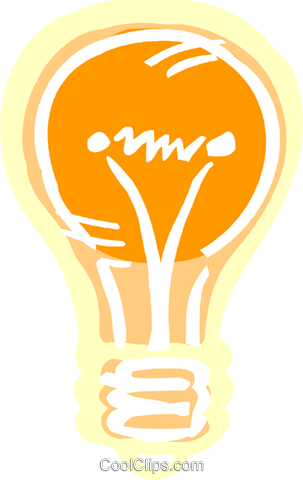 Light bulb Royalty Free Vector Clip Art illustration vc093595