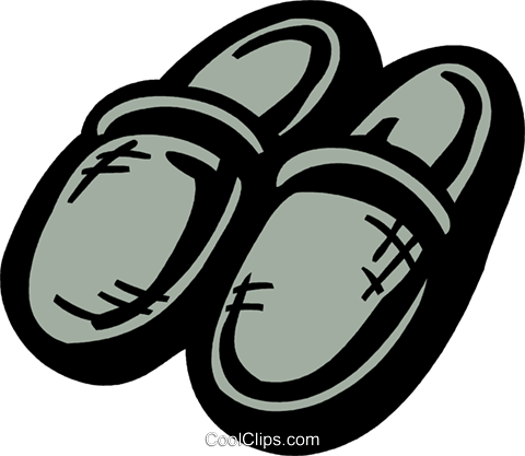 Warm slippers Royalty Free Vector Clip Art illustration vc093598